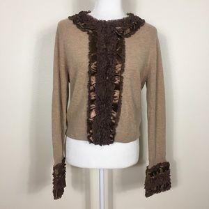 HWR | Anthropologie Brown Wool/Cashmere Cardigan